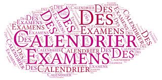 Calendrier des examens Mastère 1 semestre 2